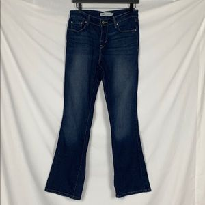 Dark Wash Levi's 515 High Waist Bootcut Blue Jeans